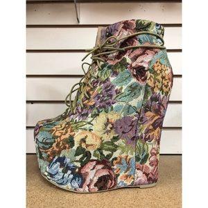 "Jeffrey Campbell ""Damsel"" Tapestry heels"
